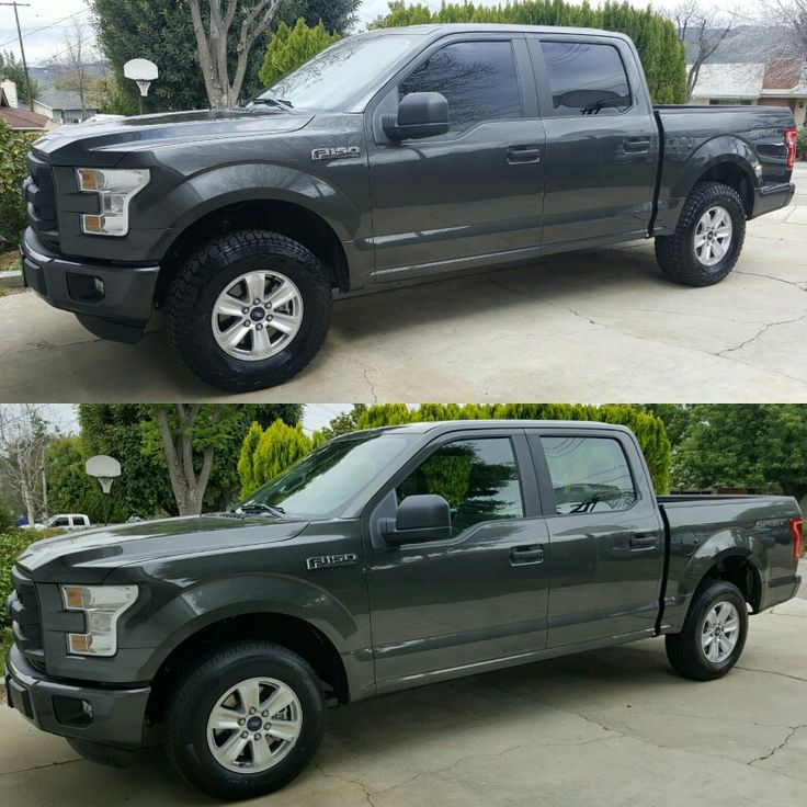 2018 Ford F150 King Ranch >> Before (lower) & After (upper). 2016 F150 XL Supercrew