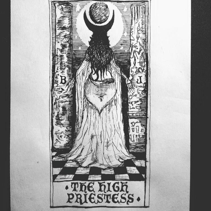 THE HIGH PRIESTESS #thehighpriestess #tarot #tarotcards #illustrator #occult…