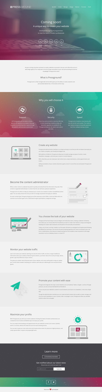 #Pressground Launching Soon Web Design. #webdesign #web #design