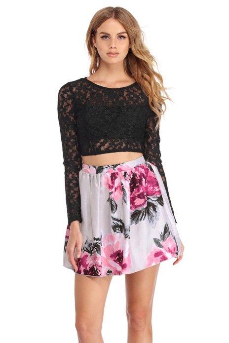 e55f6c96a9cb Melanie Black Lace Two Piece Dress | WindsorCloud | NIGHT OUT | Two ...