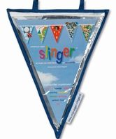 Vlaggenlijn transparante insteekhoes 24 vlaggen, 11,5 meter