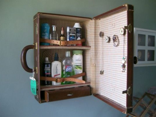Recycled Suitcases Transformed into Charming Bathroom Vanities... | Pinterest | Suitcase, Bathroom cabinets and Vanities