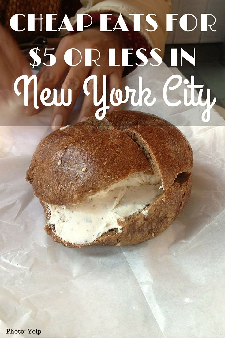 Here's where to find cheap eats for $5 or less in New York. There are so many good places to eat but I've narrowed it down to breakfast, lunch & dessert.