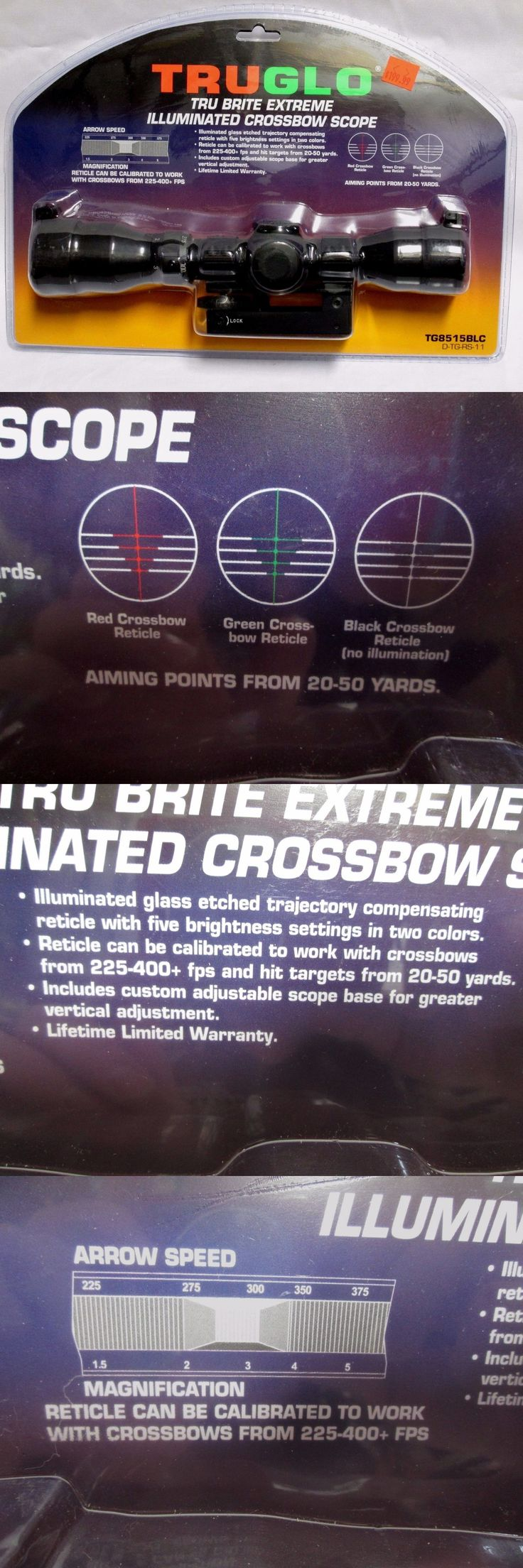 Other Hunting Scopes and Optics 7307: Truglo Tru Brite Extreme Illuminated Crossbow Hunting Scope Tg8515blc -> BUY IT NOW ONLY: $111.49 on eBay!