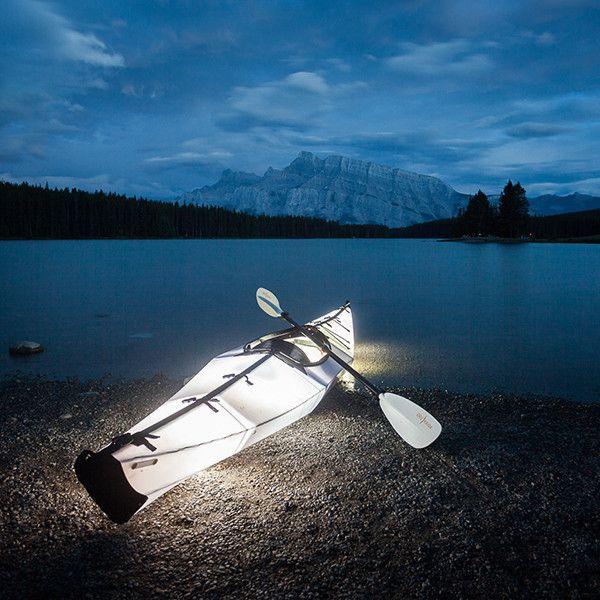 Bay Kayak with Lights, Two Jack Lake, Banff