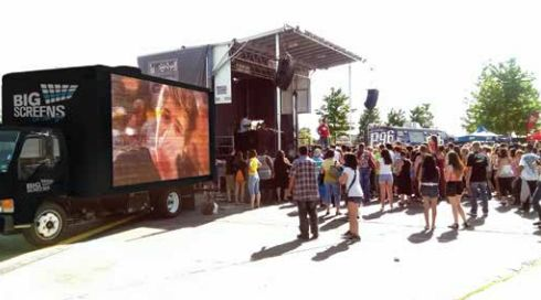 At the B96 #SummerBash using our #BigScreens truck