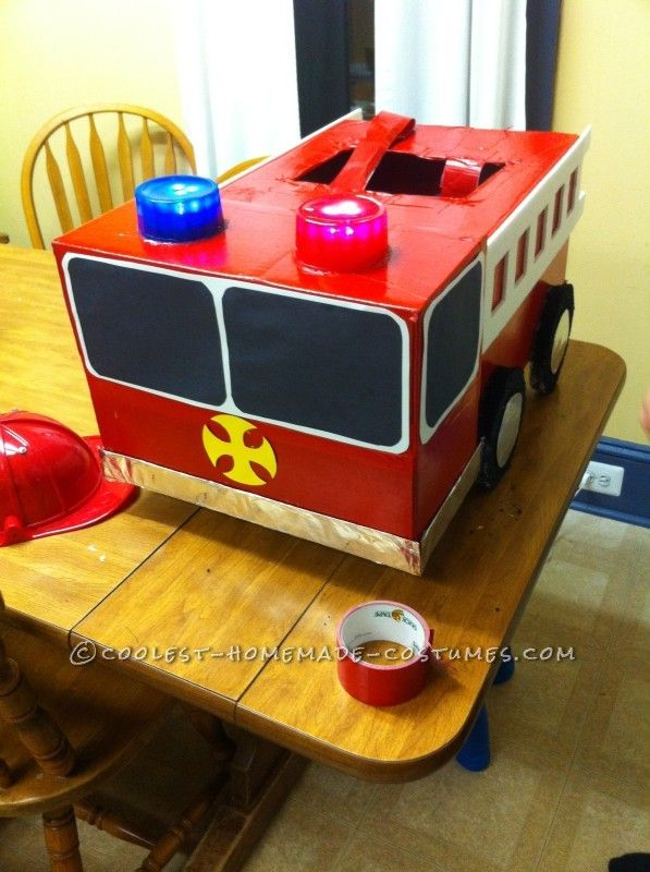 Coolest Homemade Firetruck Costume for a Toddler - 9