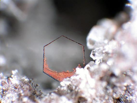 A Hematite frame from Wannenköpfe, Ochtendung, Polch, Eifel, Rhineland-Palatinate, Germany
