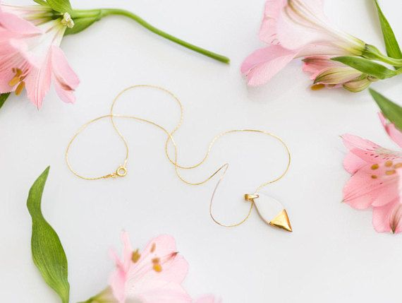 Gold drop earrings Gold plated earrings White stone earrings