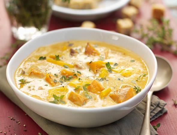 Rezept: Mais-Butternusskürbis-Suppe bei for me