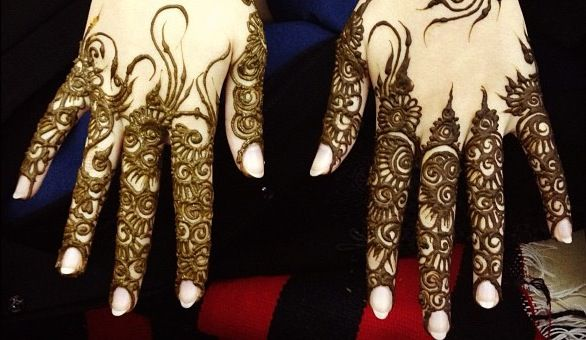 Khaleeji inspired henna for fingers