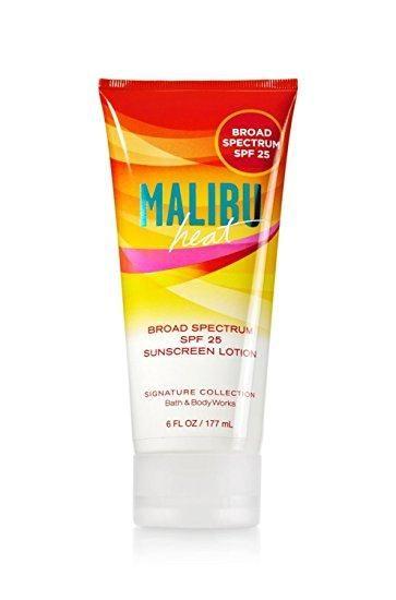 Bath Body Works Malibu Heat Sunscreen Lotion Spf 25 Bath
