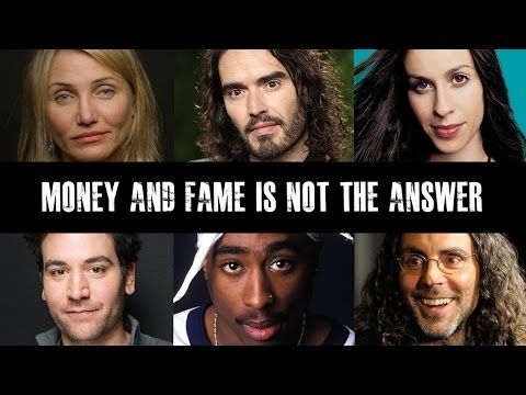 Celebrities Speak Out On Fame & Materialism - YouTube