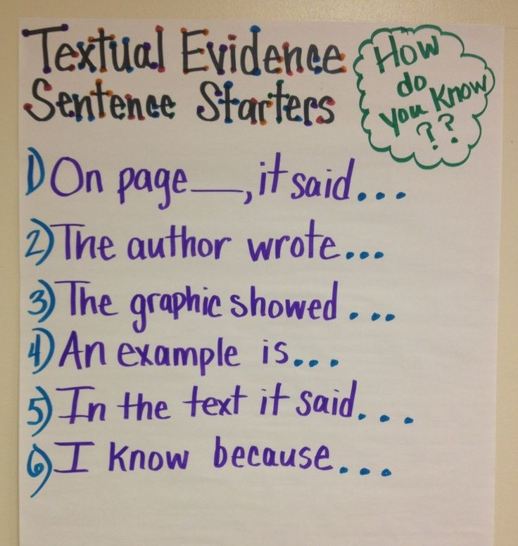 Giving TextEvidence