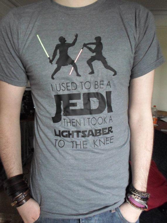 Hey, diesen tollen Etsy-Artikel fand ich bei http://www.etsy.com/de/listing/150731502/ich-war-mal-ein-jedi-star-wars-t-shirt
