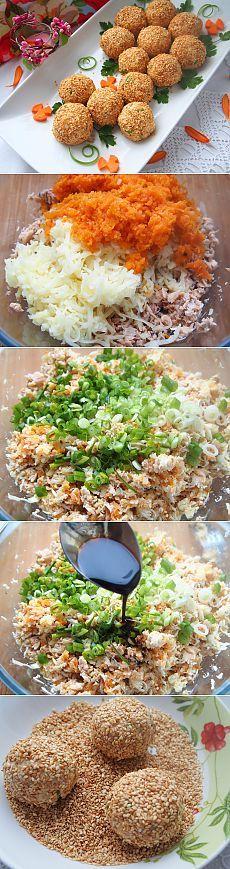 Салатные шарики А-ля мимоза - пошаговый рецепт с фото - как приготовить - =)