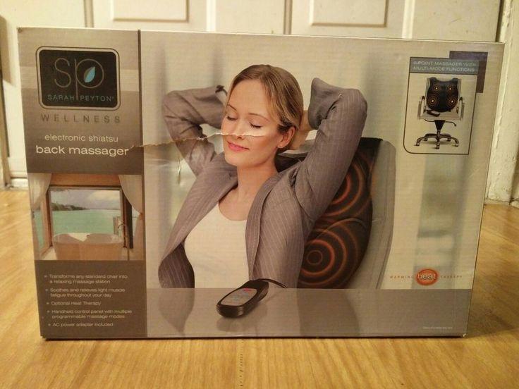 Sarah Peyton Electronic Shiatsu Back Massager W/Remote  #SarahPeyton
