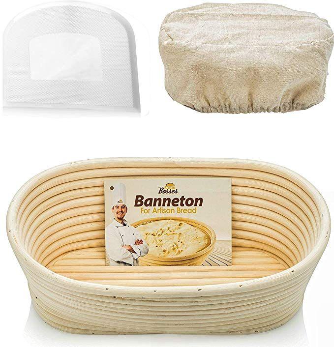 Bread Proofing Basket,Long Banneton Brotform Basket Artisan Bread Sourdough Proving Basket Natural Rattan Bowl for Bread and Dough Rising,Sour Dough Proofing