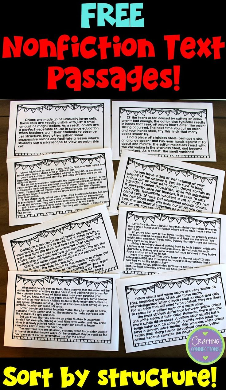 Teach Text Structures With This Free Sorting Activity That Features 8  Nonfiction Passages! Ideal Text