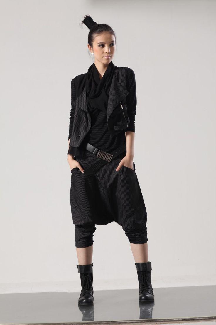 Taobao - Ücretsiz kargo Avrupa e Koreli kadınların gevşek siyah kasık harem pantolon akını asılı hakiki 2.015 yaz yeni rahat pantolon karşı