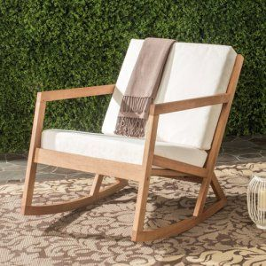 Safavieh Vernon Wood Outdoor Rocking Chair - A modernized version of a front porch classic, this Safavieh Vernon Wood Outdoor Rocking Chair elevates your outdoor living space. Its clean lines...