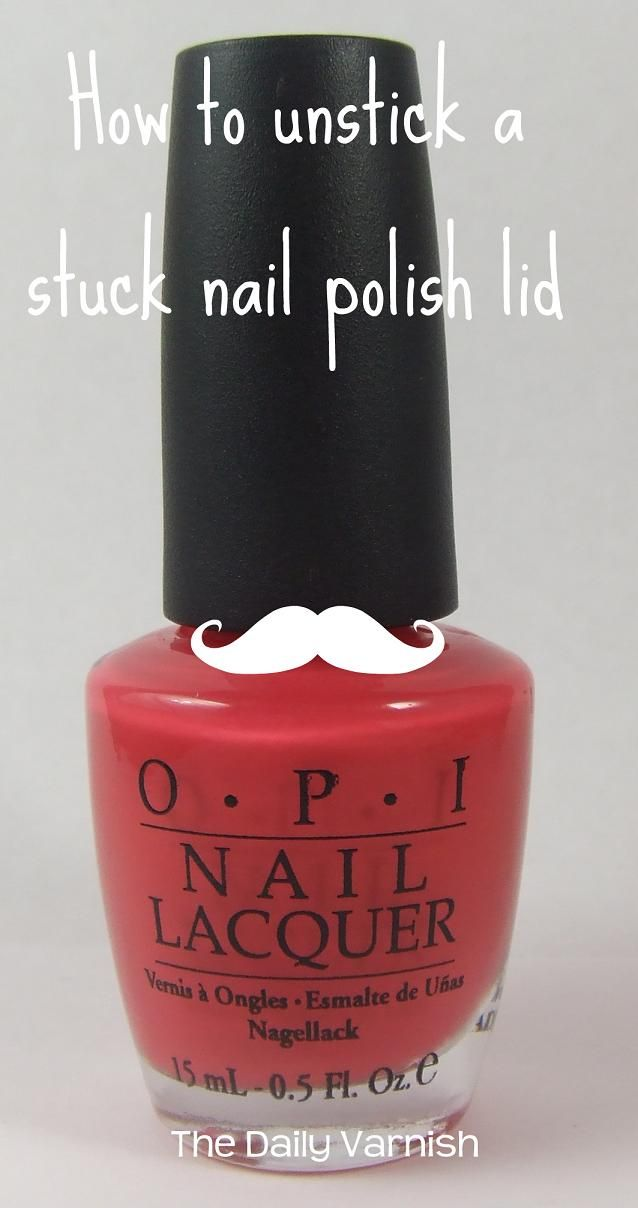 How to unstick a stuck nail polish lid. - Ladies, I just tried this and it really does work! I just unstuck my favorite Essie polish that has been practically glued shut for over a year!