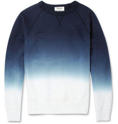 Acne Studios College Dip-Dye Loopback Cotton-Jersey Sweatshirt | MR PORTER Look cool