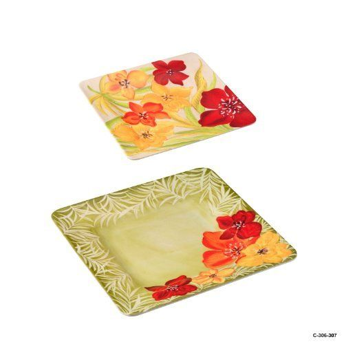 11\  Melamine Dinner Plate with 9\  Melamine Salad Plate Set of 2 (  sc 1 st  Pinterest & 20 best Home \u0026 Kitchen - Plates images on Pinterest | Dinnerware ...