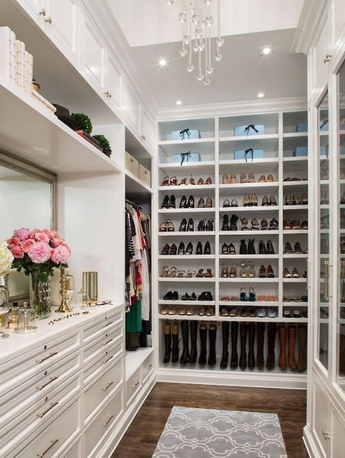 Merveilleux This Is My Dream Walk In Closet! White Closet With Display Area Featuring A  Framed Mirror For Getting Your Look Completed. Shoe Wall Is A Show Stopper    How ...