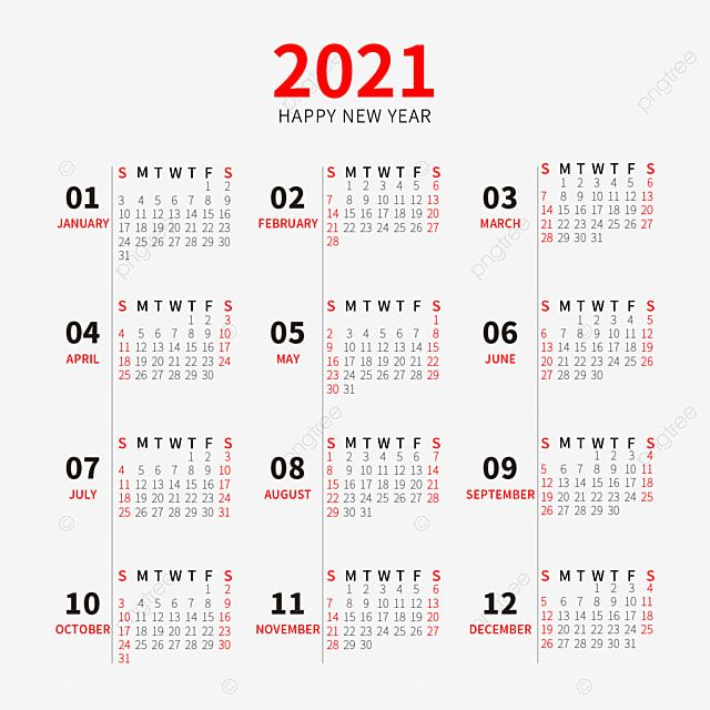 2021 Calendar New Year Calendar Simple Style 2021 Calendar Happy New Year Line Png And Vector With Transparent Background For Free Download New Year Calendar Calendar Graphic Calendar Design Template