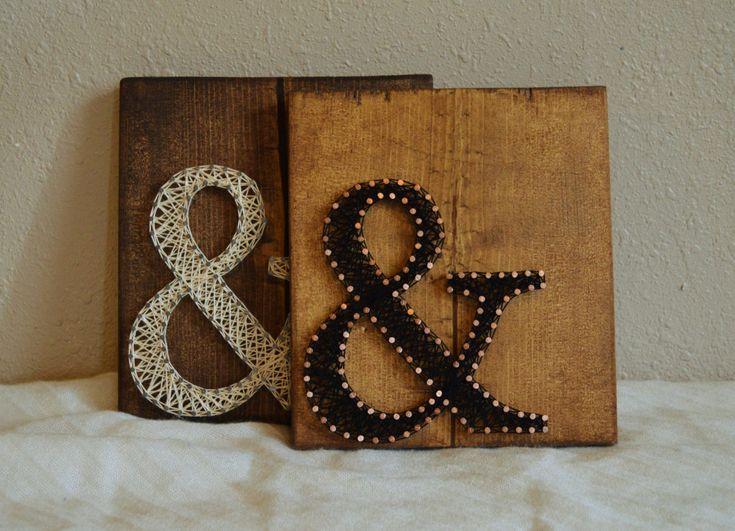 Ampersand string art string art art and etsy for Ampersand decoration etsy