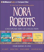 @Overstock - Presents four tales of romance and suspense.http://www.overstock.com/Books-Movies-Music-Games/Nora-Roberts-Chesapeake-Bay-Collection-Audio-CD/1921320/product.html?CID=214117 $21.92