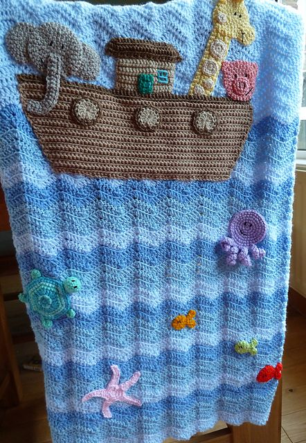 Ravelry: Project Gallery for Noah's Ark Blanket pattern by Michele Wilcox