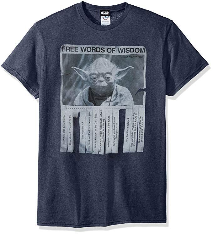 Star Wars Men S Words Of Wisdom T Shirt Click Image To Check It