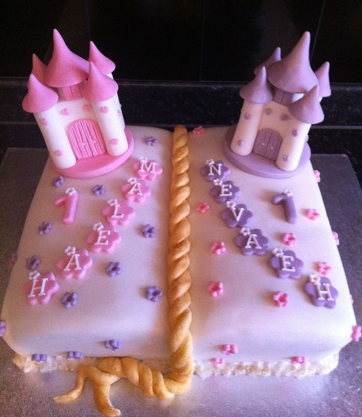 Twin Girls Birthday Cake Birthday Ideas Pinterest ...