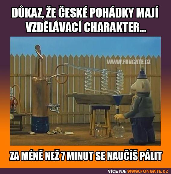 Důkaz, že české pohádky mají vzdělávací charakter…