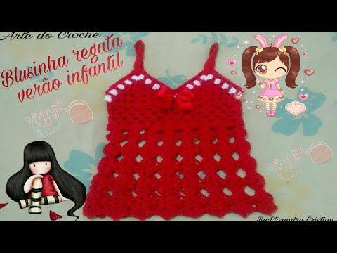 3e0ca973d59 Top Cropped de Croche Para Bebe e Infantil - Profª Fernanda Reis ...