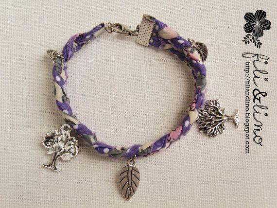 Handmade Fabric Braided Charm Bracelet by FiliandLino on Etsy, $6.50