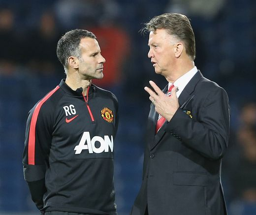 Giggsy and LvG at West Brom. 20.10.2014.