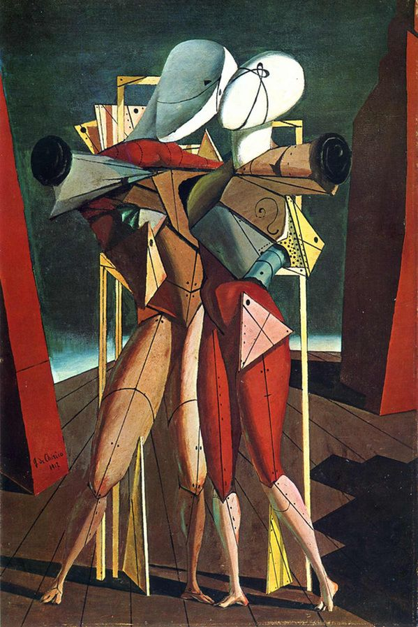 """lonequixote: """" Hector and Andromache by Giorgio de Chirico """" One of my favorite paintings… may be the first surrealist painting that I admired when I was a teenager."""