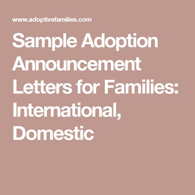 The 25 best adoption announcements ideas on pinterest adoption sample adoption announcement letters for families international domestic spiritdancerdesigns Image collections