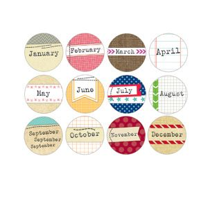 Monthly Tidbits - 1.25 inch :: 2013 Calendars :: By Collection :: Elle's Studio Tags :: Elle's Studio