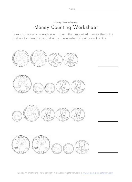 money counting worksheet two | GS Daisies | Pinterest | Coins ...