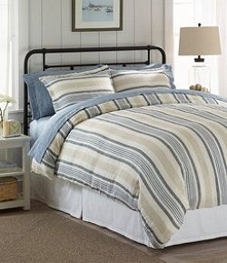 #LLBean: Sunwashed Linen Comforter Cover Collection