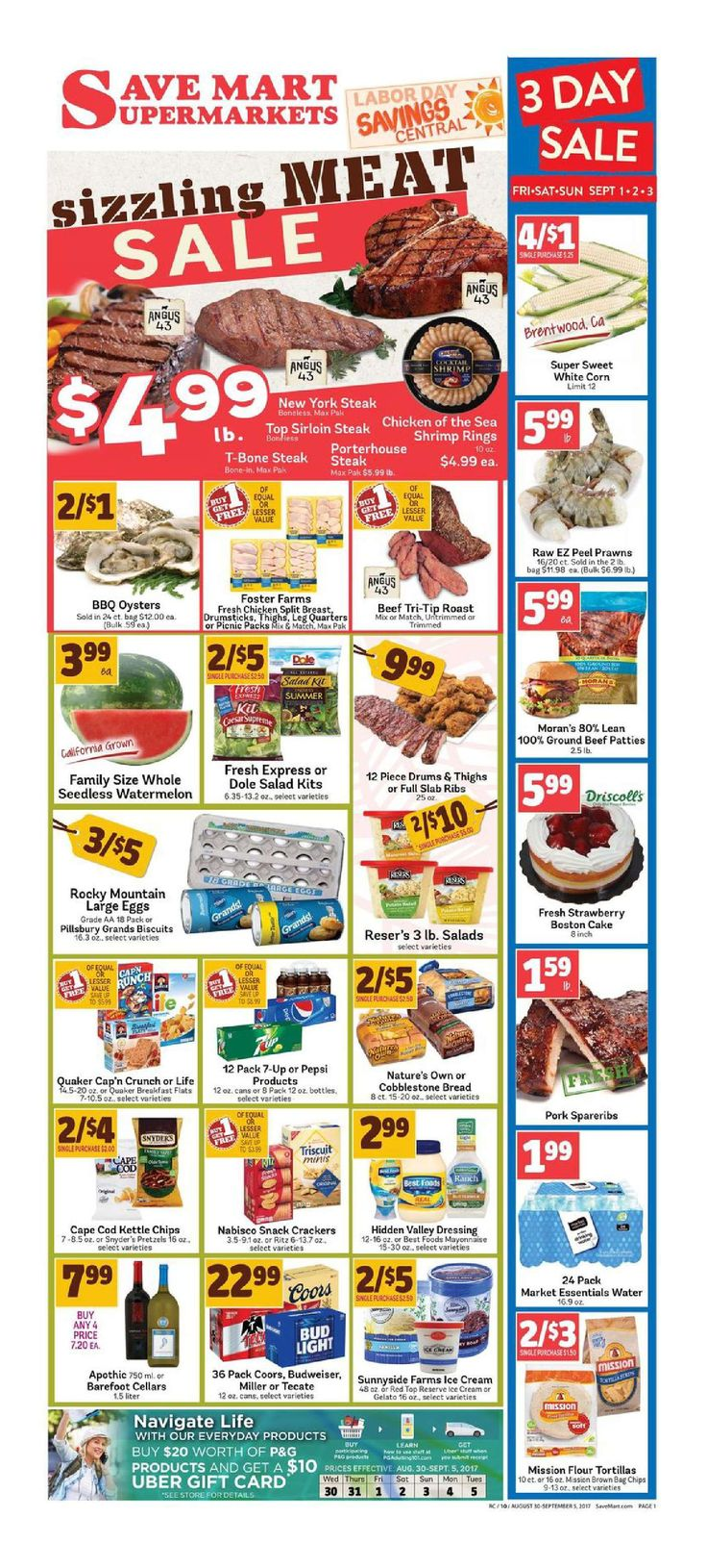 Save Mart Weekly ad August 30 - September 5, 2017 - http://www.olcatalog.com/save-mart/save-mart-weekly-ad.html