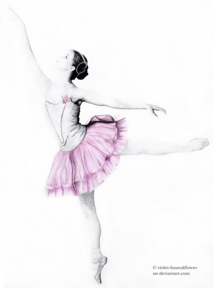 ballet dancer drawings | Ballet dancer I. by ~violet-funeralflower on deviantART