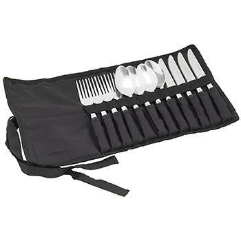 In der zusammenrollbaren Tasche ist das Outdoor Besteck ideal für Reisen aufgehoben.  Dem nächsten Familien- Picknick steht nichts mehr im Wege. Das Easy Camp Besteckset Family ist ideal für Familien bis zu 4 Personen.