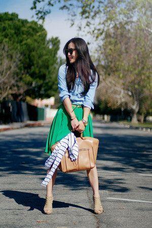 緑・グリーンのスカート着こなしコーデ                                                       …