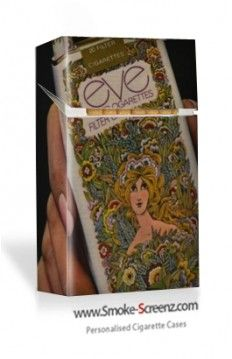 Nostalgic cigarette pack used on a Smoke Screenz cigarette case at www.smoke-screenz.com