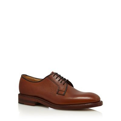 Loake Brown leather Derby shoes | Debenhams